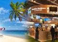 Fitur 2022, palmas, playa y stand de RD en Fitur 2021