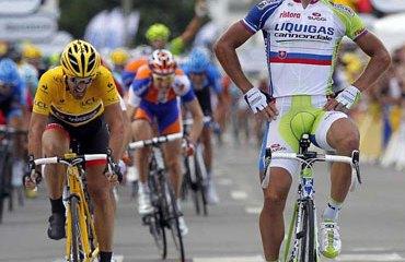 Peter Sagan batió a Cancellara
