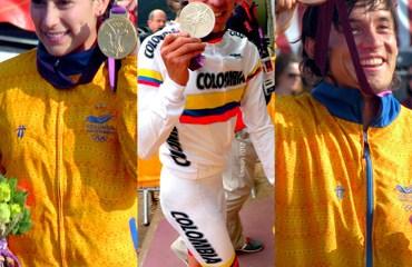 Pajón (oro), Urán (plata) y Oquendo (bronce)