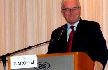 McQuaid en su intervención en los mundiales de Holanda