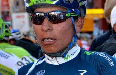 Nairo Quintana es figura en Europa con el Movistar