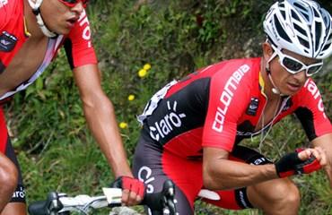 Ronald Gómez y Mauricio Ardila en acción