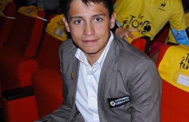 Esteban Chaves en la presentación del Tour 2013