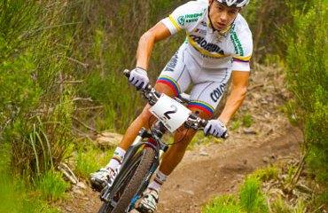 Fabio Castañeda, campeón sudamericano de MTB