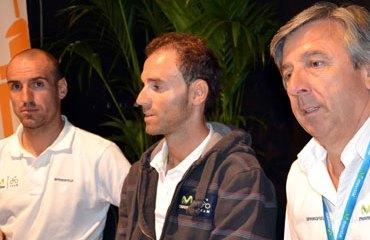 Valverde junto a Cobo y Unzué