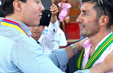 'El Gato' junto al gobernador de Santander