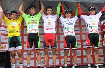 El podio final de la Clásica de Rionegro-2013