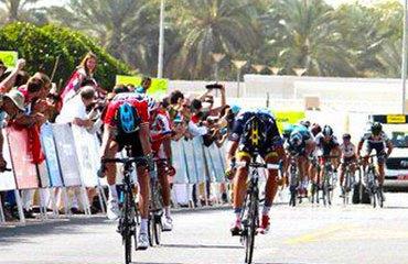 Embalaje entre Chris Froome y Alberto Contador