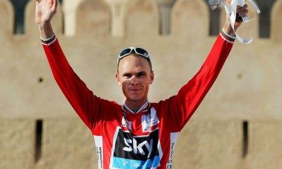 En su primera competición del año, Froome, segundo en el Tour de Francia 2012 y en la Vuelta a España 2011, se lleva su primera victoria en una vuelta por etapas. Foto: Bryn Lennon