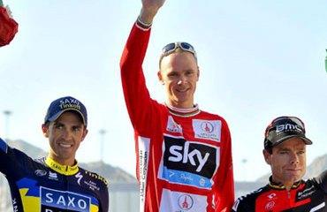Un podio digno del Tour de Francia en Omán: Froome, Contador y Evans