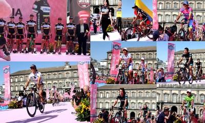 15 corredores colombianos desfilaron por todo lo alto este viernes en la presentación de las escuadras que se cumplió en Nápoles y que sirvió de apertura para el gran Giro de Italia, edición 96
