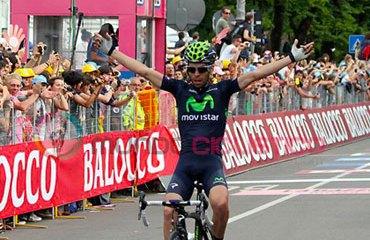 Visconti consigue su 2ª victoria en el Giro y la 4ª para su escuadra del Movistar