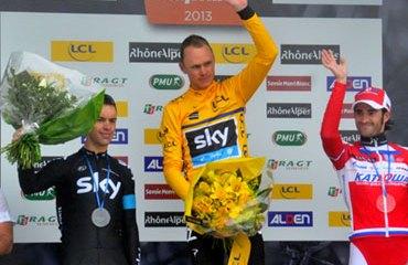 Podio del Dauphiné 2013: Froome, Porte y Moreno