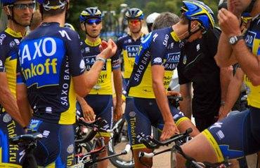 Día de victoria para el equipo de Contador en el Tour