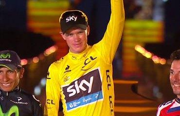 Podio final del Tour 2013: Froome, Quintana y 'Purito'