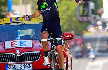 Rui Costa le entregó la buscada victoria de etapa al Movistar