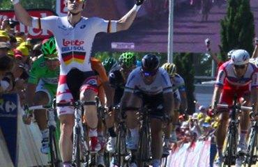 Greipel venció a Kittel, Sagan y Cavendish