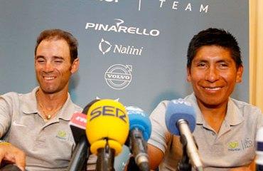 Quintana junto a Valverde en plena rueda de prensa