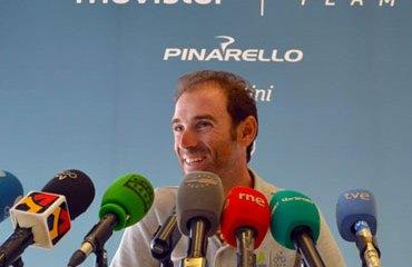 Valverde en su primer día de descanso de la vuelta