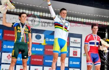 El esloveno Mohoric se quedó con la camiseta arco iris en la categoría Sub-23