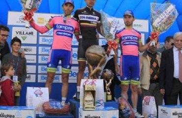 Leonardo Duque en pleno podio italiano