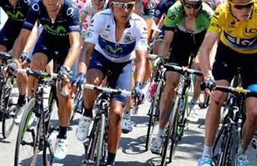 Nairo Quintana durante el Tour de Francia 2013
