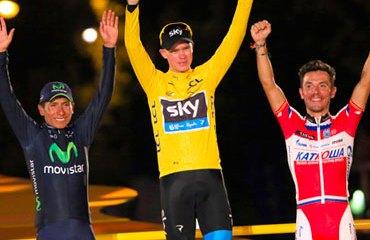 Podio del Tour de Francia 2013