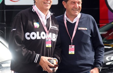 Claudio Corti junto al Director de Coldeportes, Andrés Botero