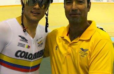 Santiago Ramírez con José Julián Velásquez en México