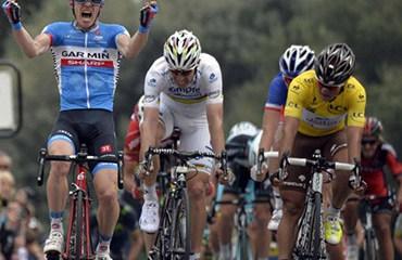 Betancur cruzó tercero y siguió al frente de la general individual