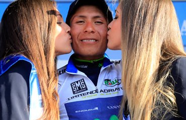 El colombiano Nairo Quintana es figura y podio en Italia