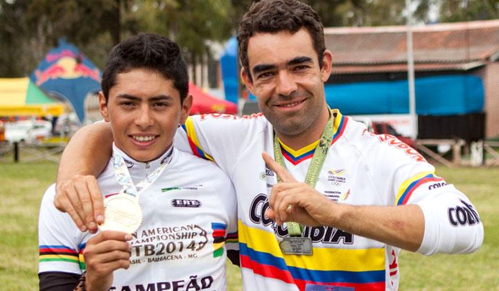 Peña junto a su Manager, Pablo Mazuera
