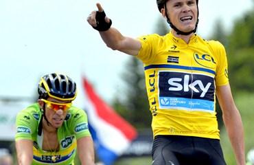 Froome completó su 2ª victoria de etapa en la edición 2014