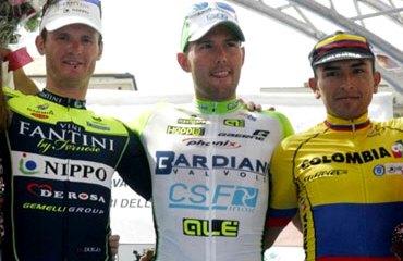 Rubiano y su primer podio con el Team Colombia en suelo europeo
