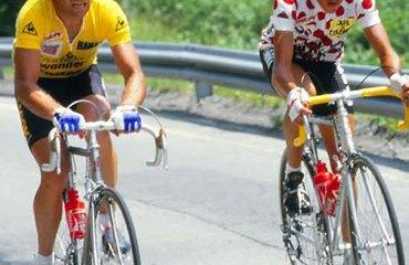 Lucho Herrera y Bernard Hinault, libraron duelos en las montañas francesas en los 80.
