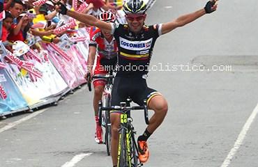 Jefry Romero dio al Team Colombia su primer triunfo parcial en la ronda nacional.