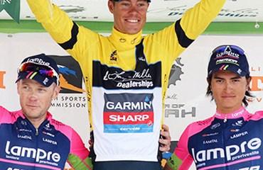 Primer podio para el colombiano Winner Anacona en un prueba del UCI Tour América.