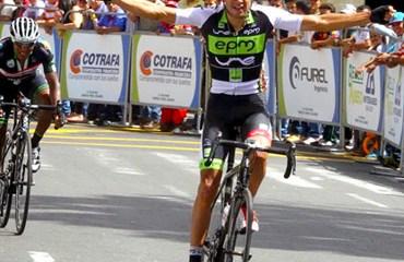 Juan Pablo Suárez, ganador de la segunda fracción en la carrera antioqueña.