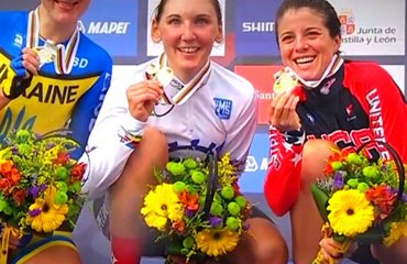 El segundo oro alemán en Ponferrada lo obtuvo Lisa Brennauer en el CRI.