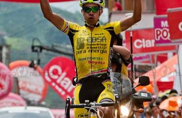 El excampeón de Vuelta a Colombia se impuso en Chinchiná tras una rápida etapa
