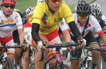 La ciclista bogotana ganó la carrera de punta a punta.