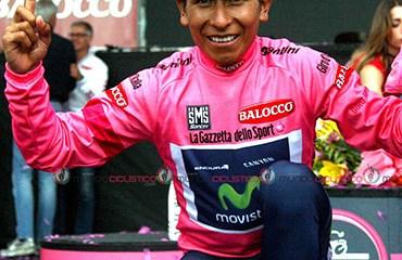 El inédito triunfo en el Giro, le dio al tunjano el galardón.