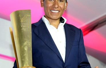 El corredor boyacense obtuvo el premio por título en el Giro.