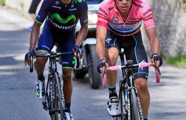 Quintana y Urán, uno–dos del Giro de Italia de este año.