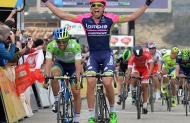 Davide Cimolai ganador de etapa de la Tirreno Adriático (Foto Paris-Nice Press)