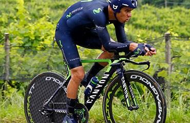 El tico Andrey Amador se metió al podio del Giro de Italia a falta de una semana para el final