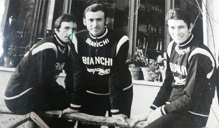 Cochise Rodriguez y Felice Gimondi en el Tour de Francia en 1975