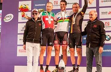 Campeonato Marathon de MTB, Leonardo Páez medalla de bronce