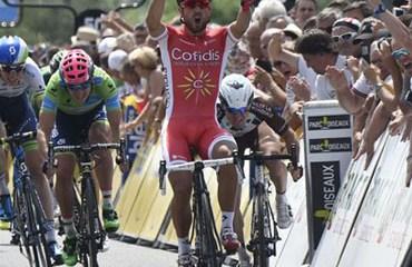 Nacer Bouhanni ganó este lunes el segundo capítulo de la Dauphiné Liberé