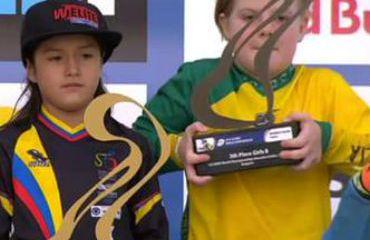 Nicole Foronda, campeona mundial en 8 años en BMX